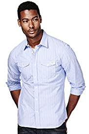 North Coast Pure Cotton Double Striped Shirt