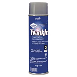 Twinkle Stainless Steel Cleaner & Polish, 17 oz. Aerosol Can - 12 aerosol cans of cleaner.