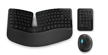 マイクロソフトワイヤレス人間工学デザインキーボード+マウスSculpt Ergonomic Desktop L5V-00022
