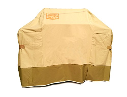 Yukon Glory Original 7553/TB Premium Cover. Water Resistant Heavy Duty Material, Fits Weber Genesis E & S 300 Series Gas Grills Tan and Brown