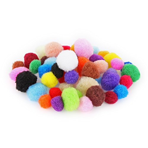 pompons mix bunt pom poms 48 st ck bommel 15mm 20mm ideal zum basteln deko. Black Bedroom Furniture Sets. Home Design Ideas