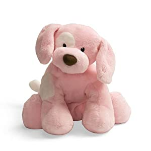 Gund Baby Dog Spunky Plush Toy, Pink