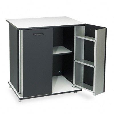 Vertiflex Refreshment Stand, 2-Shelf, 29-1/2W X 21D X 33-1/2H, Black/White