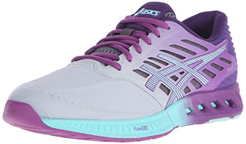 ASICS Women's Fuzex Running Shoe, Silver/Mint/Orchid, 9 M US