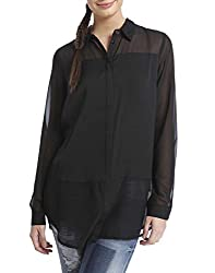 Only Women Regular Fit Black Shirt _36