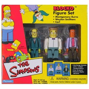The Simpsons Blocko Figures Mr. Burns Smithers & Carl - 1