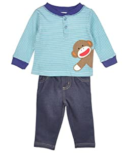 "Sock Monkey ""One Happy Monkey"" 2-Piece Outfit"