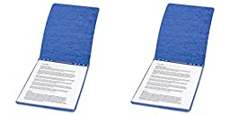 ACCO PRESSTEX Report Covers, Top Bound, 8.5 x 11 Inches, 2 Inch Capacity, Dark Blue (A7017023), 2 Packs
