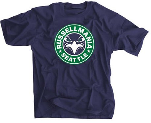 "Classic ""RussellMania Seattle"" Navy Blue T-Shirt - Small at Amazon.com"