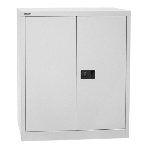 Bisley E402A01 100 cm Stationery Cupboard - Silver