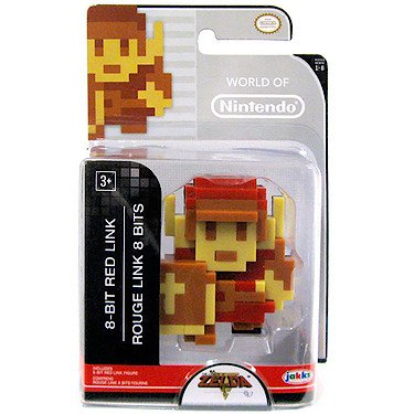 "World of Nintendo 86729 2.5"" 8 Bit Red Link Action Figure - 1"