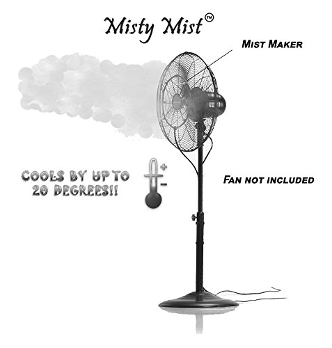 Fan Misting Kit For a Cool Patio Breeze - Turns Heat Down By 20 Degrees, Easy On the Wallet, Portable, Connects To Any Outdoor Fan - 100% Satisfaction Guaranteed! (Patio Cooling Fan compare prices)