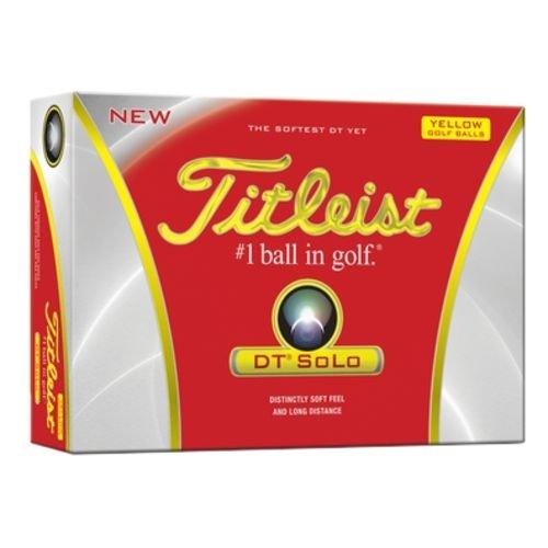 Titleist DT Solo Yellow Golf Balls - 1 Dozen