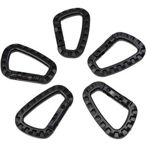 Bluecell Pack of 5 Black color 80-mm Carabiner