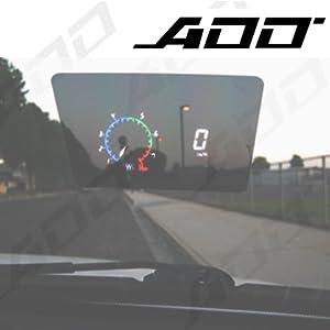 ADD Cluster Head up Display Speedometer HUD Mph OBD Rpm/speed/water Temp/volt