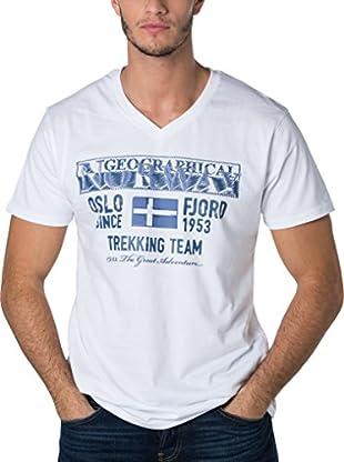 Geographical Norway Camiseta Manga Corta Snht (Blanco)