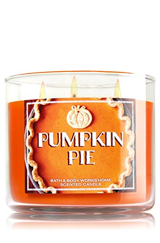 Bath and Body Works 14.5 Oz 3-wick Candle Pumpkin Pie, New for 2015