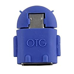 Bluebill Basic Android Shape OTG Adapter Micro USB OTG to USB 2.0 Adapter for Attach Pen drive, Mouse, Card reader,Tablets / Blue - 1 Year Warranty with BlueBill Basic