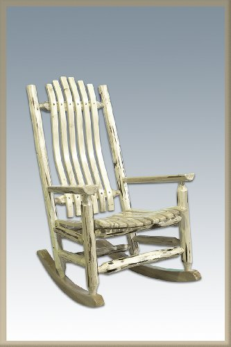 Montana Woodworks Montana Collection Log Rocker, Ready To Finish