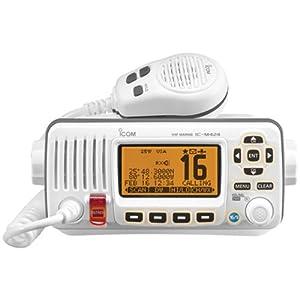 ICOM IC-M424 02 Compact Marine VHF Radio with Hailer, White