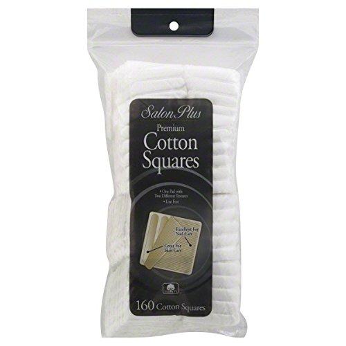Salon Plus Cotton Squares, Premium, 160 cotton squares