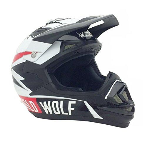 PREMIUM-Adult-Off-Road-Helmet-Racing-MX-Motocross-Dirt-Bikes-ATV-UTV-Shiro-WILD-WOLF-L