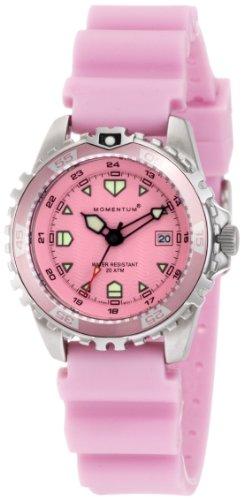 Momentum M1 1M-DV01R1R - Reloj analógico de cuarzo para mujer, correa de silicona color rosa
