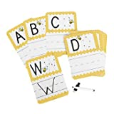 Busy Bee Write-On/Wipe-Off Alphabet Cards, 27 Piece (Teacher Resource & Learning Aid)