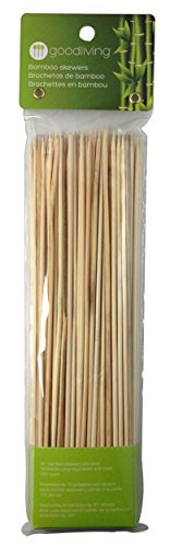 Learn More About Good Living 10-inch Bamboo Skewers For Barbecues, Kabobs, Smores Marshmallows, Frui...