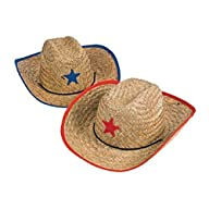 Childs Straw Cowboy Hat With Plastic…