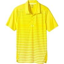 Oakley Mens Gamer Polo Shirt, Enamel Yellow, Medium