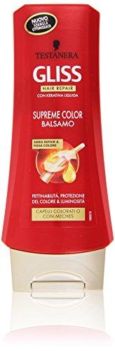 Testanera - Gliss Hair Repair, Balsamo Supreme Color Siero Repair e Fissa Colore - 200 ml