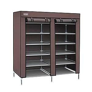 Ottff Portable Storage Closet Shoe Organizer