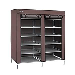 ottff portable storage closet shoe organizer rack with 2. Black Bedroom Furniture Sets. Home Design Ideas