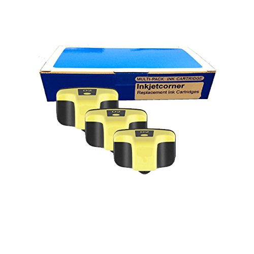 Pack YELLOW Remanufactured Ink Cartridge Shows Ink Level for HP No. 02