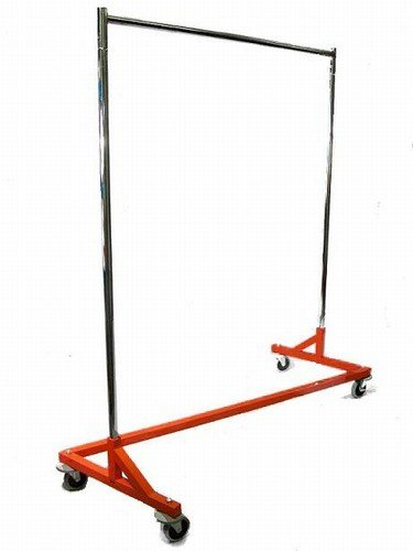 400LB LOAD Commercial Grade Rolling, Z Rack Garment Rack with Nesting Orange Base (Heavy Duty Rolling Garment Rack compare prices)