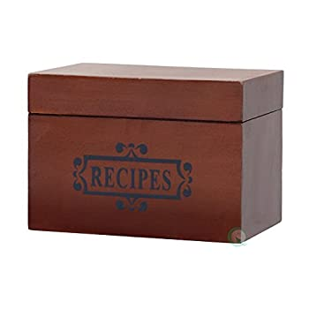Vintiquewise(TM) Wooden Recipe Box