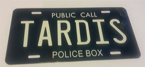 "Doctor Who, Tardis - Replica License Plate - All Aluminum 6"" X 12"""