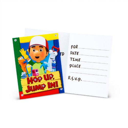 Hallmark 157269 Handy Manny Invitations