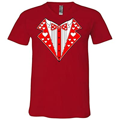 Valentine's Day Heart Tuxedo V-Neck T-Shirt