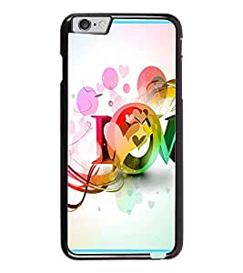PrintDhaba Love D-2089 Back Case Cover for APPLE IPHONE 6 (Multi-Coloured)