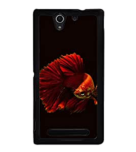 printtech Unique Fish Back Case Cover for Sony Xperia C3 Dual D2502 , Sony Xperia C3 D2533