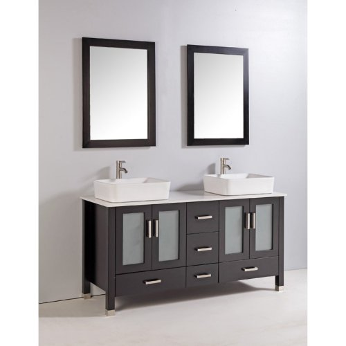 Legion Furniture 59-in. Double Bathroom Vanity Set with Faucet