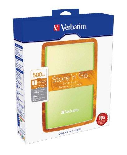 Disque dur externe portable Store 'n' Go USB 3.0 - 500 Go - vert
