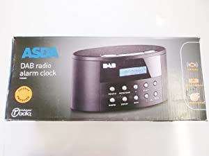asda dab digital fm radio alarm clock e80080 electronics. Black Bedroom Furniture Sets. Home Design Ideas