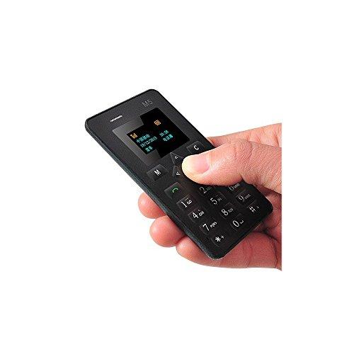 Twinbuys M5 Mini Mobile Card Phone for Basic Back Up Use Kids Gift 2G Micro SimBlack