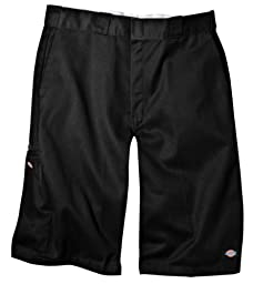 Dickies Men\'s 13 Inch Loose Fit Multi-Pocket Work Short, Black, 36