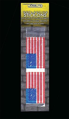 Jogalite Reflective USA stickers