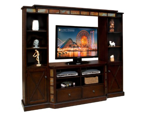 Sunny Designs Tv Console, 48-Inch, Espresso Finish