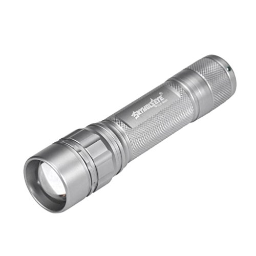 Powerful Focus 3000 Lumens 3 Modes CREE XML T6 LED 18650 Flashlight Torch Lamp (Silver )